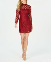 Betsey Johnson Women's Lace Deep Star Printed Party Dress size 10 Deep Red - $49.99