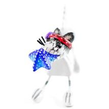 Saul Montesinos Day of the Dead Kitty Cat w Starfish Clay Folk Art Figurine image 2