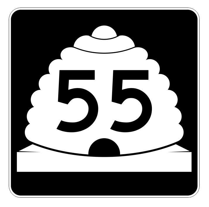 Utah State Highway 55 Sticker Decal R5393 Highway Route Sign - $1.45 - $15.95