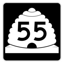 Utah State Highway 55 Sticker Decal R5393 Highway Route Sign - $1.45+