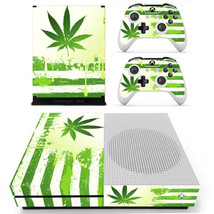 Xbox one S Slim Console Skin Vinyl Decals Stickers Marijana Cannabis Leaf Weed  - $12.00