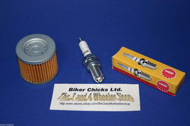 KAWASAKI 89-99 KLF300 Bayou 2x4 & 4x4 Tune Up Kit NGK Spark Plug & Oil F... - $15.45