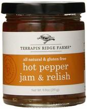 Terrapin Ridge Farms Hot Pepper Jam and Relish, 9.9 Oz Glass Jars, 6 Pack - $31.37