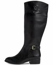 LAUREN by Ralph Lauren Womens Madisen Leather Almond Toe Knee, Black, $210 - $98.00