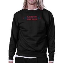 Land Of The Free Unisex Graphic Sweatshirt Black Crewneck Pullover - $20.99+