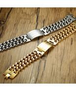 Stainless steel Cuba chain Greece Key ID Tag Bracelet for Men Hiphop Jew... - $16.57