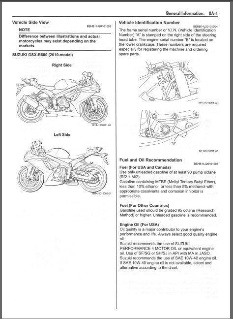 2010-2012 Suzuki GSX-R600 Service Repair and 19 similar items