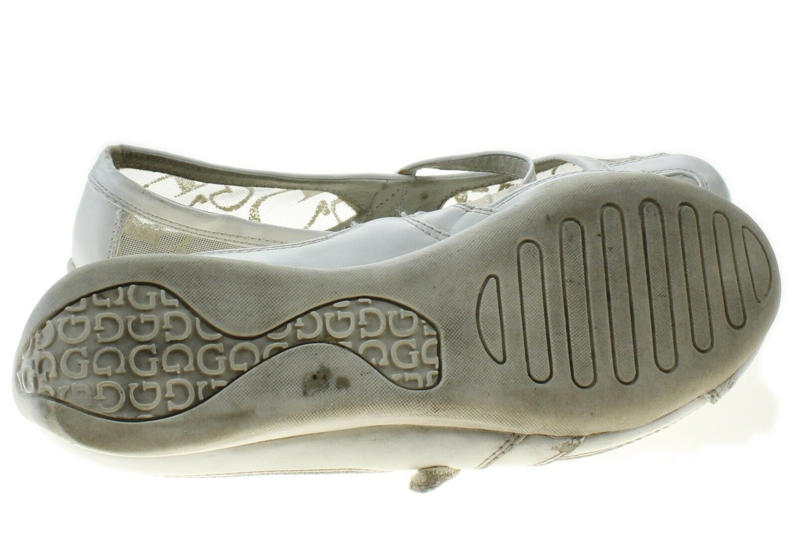 Guess Gwlilith Womens White Signature Logo Pattern Mary Jane Sneakers Shoes 6.5