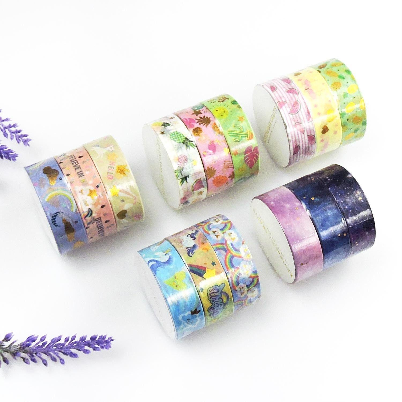 Masking Tape Set Animal Fruits Paper Masking Tapes Scrap-Booking Sticker Tapes