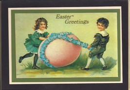 Easter Children and Egg Greeting Card - $4.00