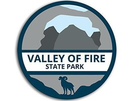"4"" VALLEY OF FIRE STATE PARK NEVADA HELMET BUMPER USA MADE STICKER DECAL - $16.14"