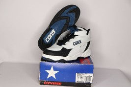 Vintage 90s New Converse Youth 2.5 Speed Pull Mid Leather Basketball Sho... - $44.60