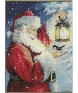 8831-DMS Santa s Feathered Friend - Dimensions, New Year and Christmas d... - $26.31