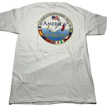 Vintage 90s Hanes Beefy Americas Cup 3 Mens Sz XL LACC Worlds T Shirt Us... - $39.93
