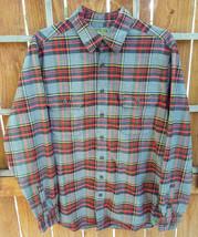 c884531a Eddie Bauer Sport Shop Flannel Shirt-L-Grey/Red-Plaid-Button · Add to cart  · View similar items