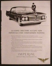 1962 CHRYSLER IMPERIAL CROWN SOUTHHAMPTON DOCTORS ACCEPT Classic Print Ad - $8.91