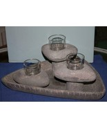 PartyLite    LIVING STONE CANDLE HOLDER ENSEMBLE    NIB - $22.49