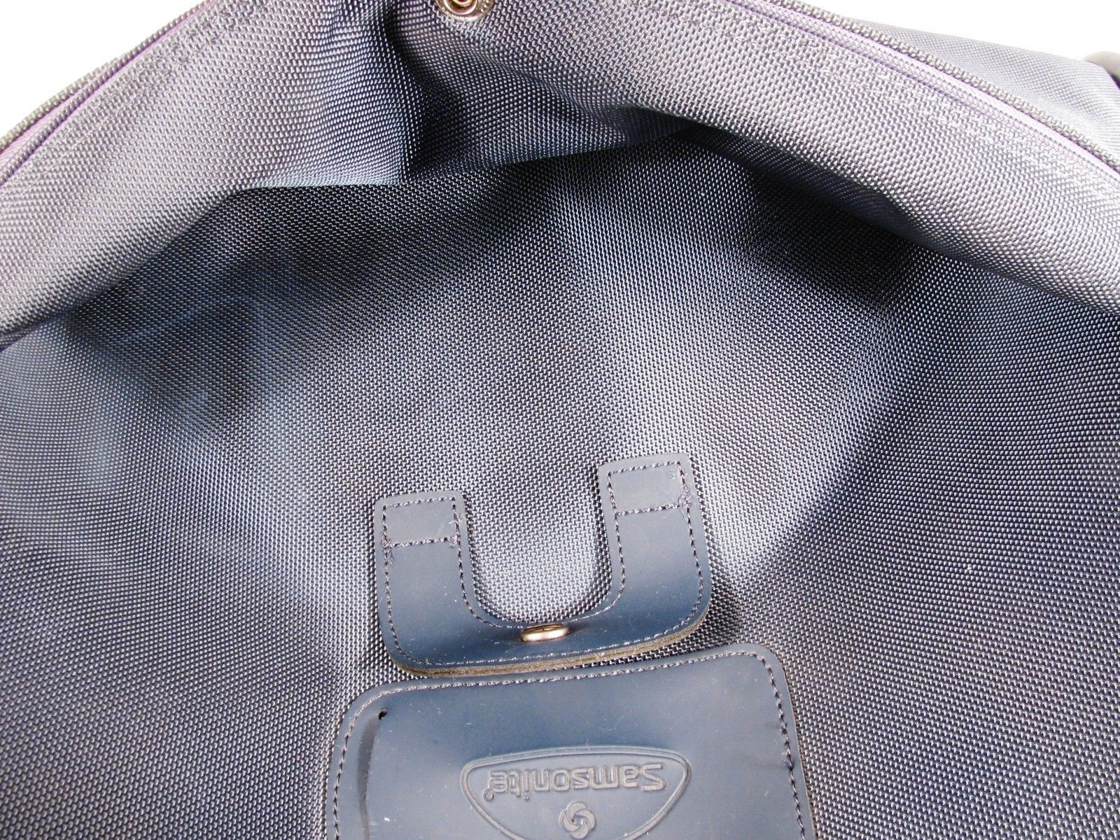 Samsonite Duffle Bag Overnight Travel Carry On Organizer Blue Nylon