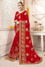 New Designer Indian Bollywood Style Saree Bridal Wedding Party Wear Sari... - $69.99