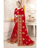 New Designer Indian Bollywood Style Saree Bridal Wedding Party Wear Sari... - $69.99