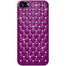 Amzer Diamond Lattice Snap On Shell Case for iPhone 5 5S - Purple - $9.39