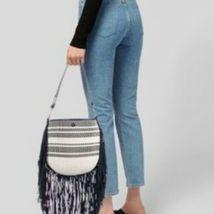 Women's Tory Burch Multi Woven  Suede Fringe Shoulder Bag image 3