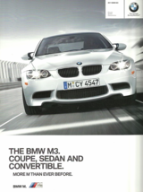 2011 BMW M3 Coupe Sedan Convertible sales brochure catalog US 11 V8 - $12.00