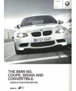 2011 BMW M3 Coupe Sedan Convertible sales brochure catalog US 11 V8 - $12.00