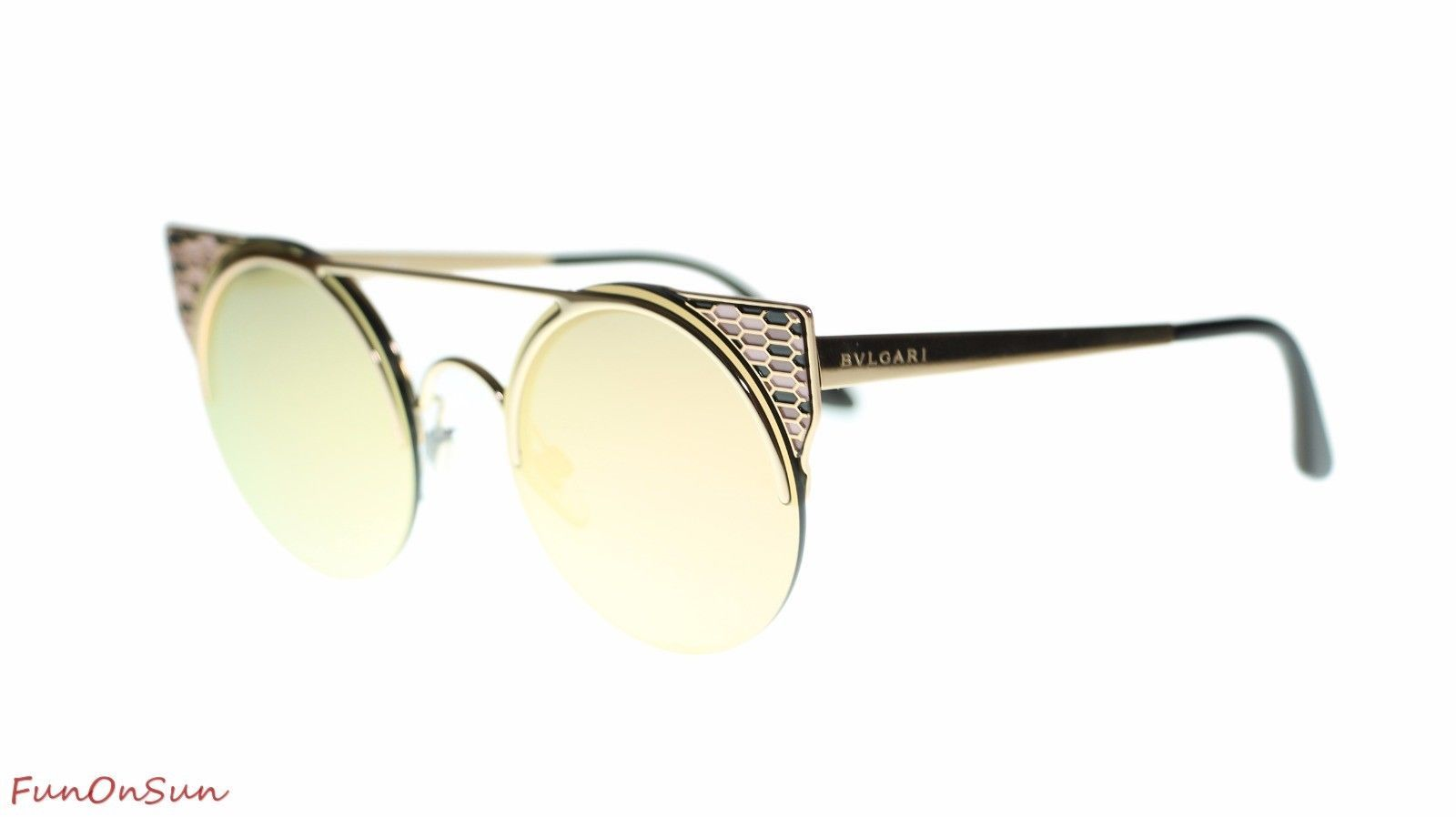 59a79689e9568 S l1600. S l1600. Previous. BVLGARI Women Round Sunglasses BV6088 20144Z  Pink Gold Grey Rose Gold Lens 54mm