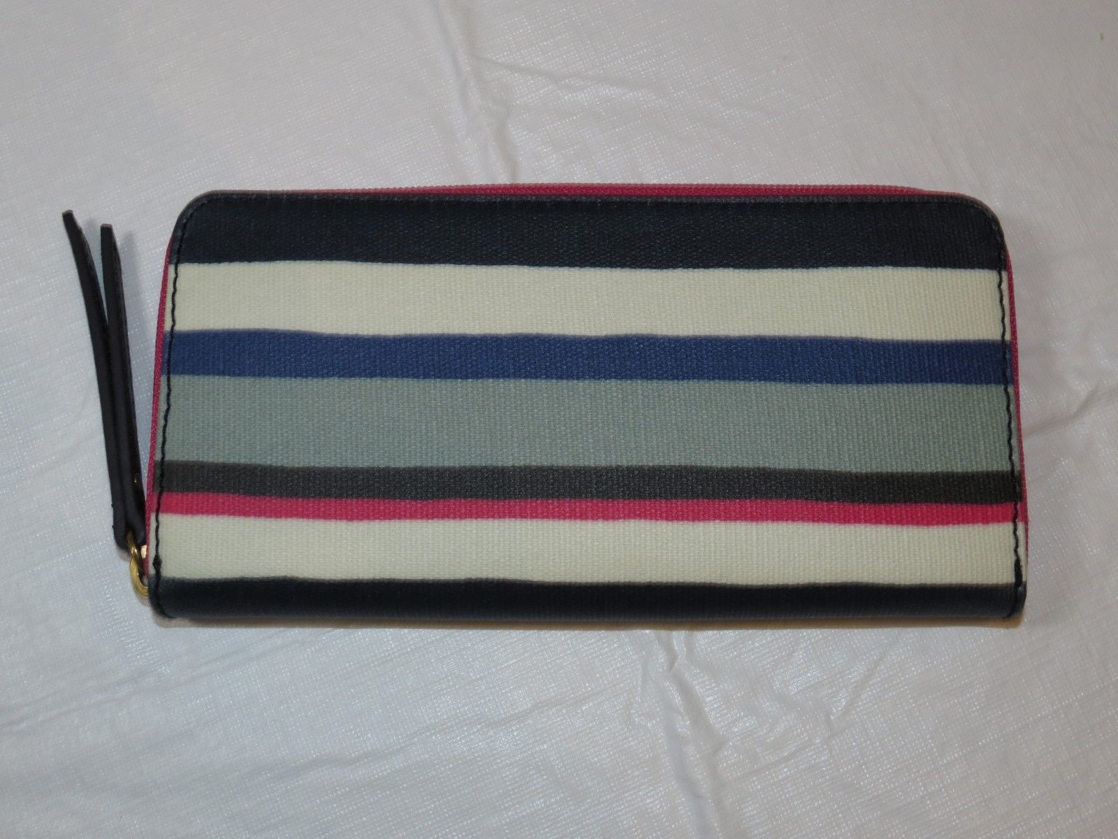 Fossil SWL2034425 Eliza Clutch Blue Multi Stripe coated canvas clutch wallet *^ image 2