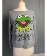 Women's The Muppets Kermit the Frog Sweatshirt Size Medium  - $12.34