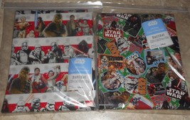 Usa Disney Star Wars Christmas Wrapping Paper 2 Variations Kids 20 Sq Ft Folded - $9.00