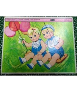 Whitman 1963 Tiny Chatty Twins Frame-Tray Puzzle #4464 by Mattel - $7.00