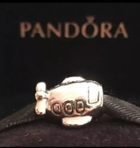 Authentic Pandora Airplane Charm Sterling Silver Retired Pandora Plain Charm - $26.99