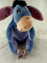 "Disney Store Eeyore Plush Stuffed Animal 6"" Blue lavender black mane + 0... - $11.87"