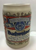 Ceramarte Budweiser Beer Stein King Of Beers Made in Brazil - $12.99