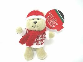 New Starbucks 2018 Bearista Boy Plush Holiday Christmas Tree Ornament - $15.14