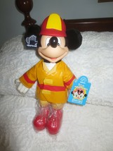 "APPLAUSE Walt Disney 12"" MICKEY MOUSE - FIREMAN Dress-Ups DOLL - NWT  - $9.90"