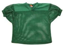 VINTAGE Allstar Football Jersey Youth Size L / XL Green V-neck Scrimmage... - $17.83