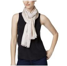 Calvin Klein Convertible Reversible Abstract Logo Wrap Scarf, Latte Brown - $19.00