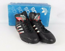 Vtg 80s New Adidas Mens 9.5 Torsion Anzio Trefoil Spell Out Turf Soccer ... - $146.47