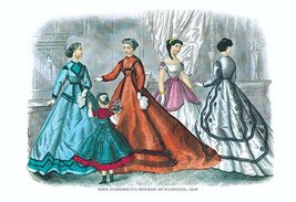Mme. Demorest's Mirror of Fashions, 1840 #2 - Art Print - $19.99+