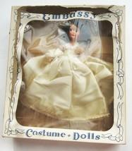 Vintage Embassy Costume Dolls with Original Box Brunette 1930s 1940s - $15.74