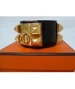 Hermes Marron CDC Alligator Collier de Chien Cuff Bracelet NEW - $2,695.00