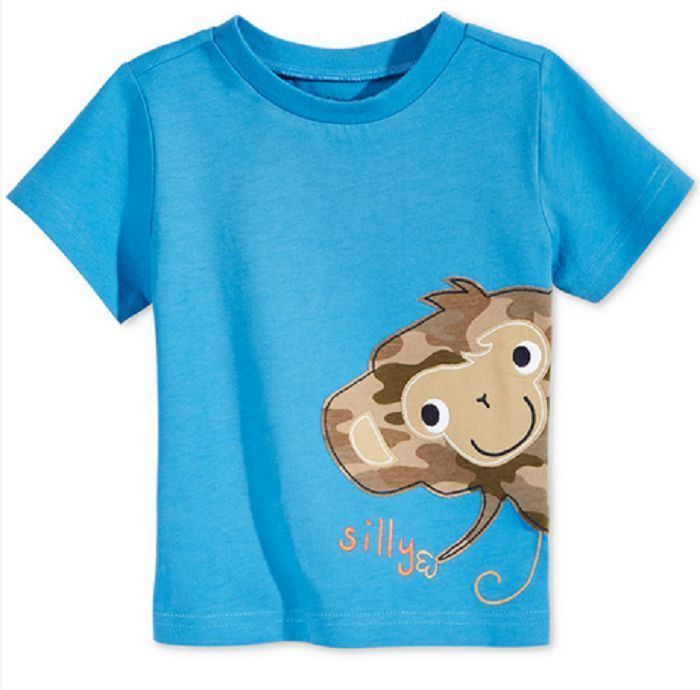 First Impressions Baby Boys' Silly Monkey T-Shirt, Only at Macy's, Blue,Size 24M - $9.89