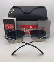 RAY-BAN Sunglasses THE COLONEL RB 3560 003/32 58-17 Silver Aviator w/ Grey Fade image 4