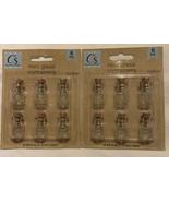 Mini Glass Cork Lid Bottles Lot 2 - 12 Bottles Total Crafter's Square Mi... - $10.88