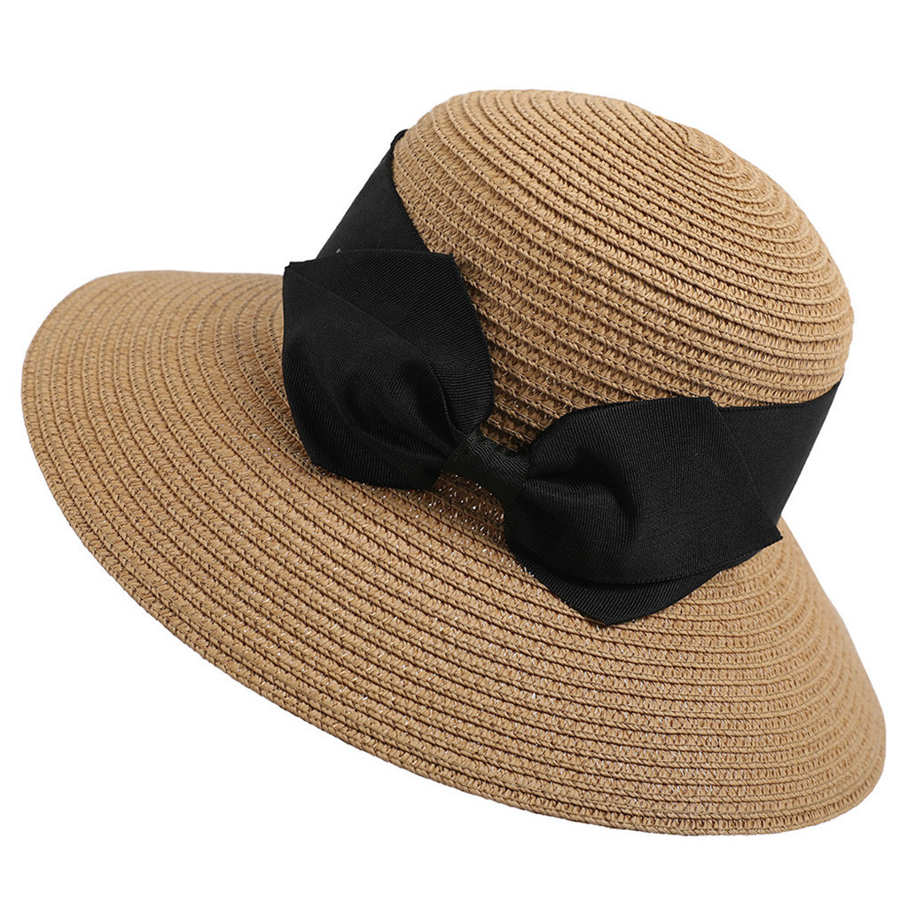 Primary image for Feitong 2019 women hat Women Floppy Foldable Ladies Women Straw Beach Sun Summer
