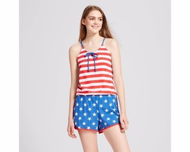 Snooze Button Women's American USA Flag Sleep Romper S/M/L/XL - $12.08