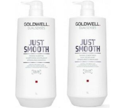 Goldwell Dualsenses Just Smooth Taming Shampoo & Conditioner,  Liter Duo
